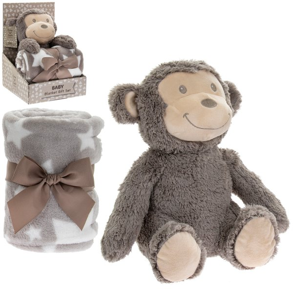 MONKEY BLANKET & SOFT TOY