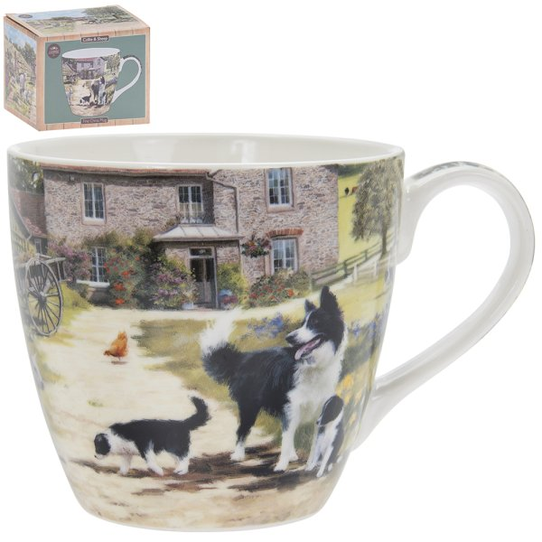 COLLIE & SHEEP BREAKFAST MUG