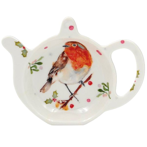 WINTER ROBINS TEABAG TIDY
