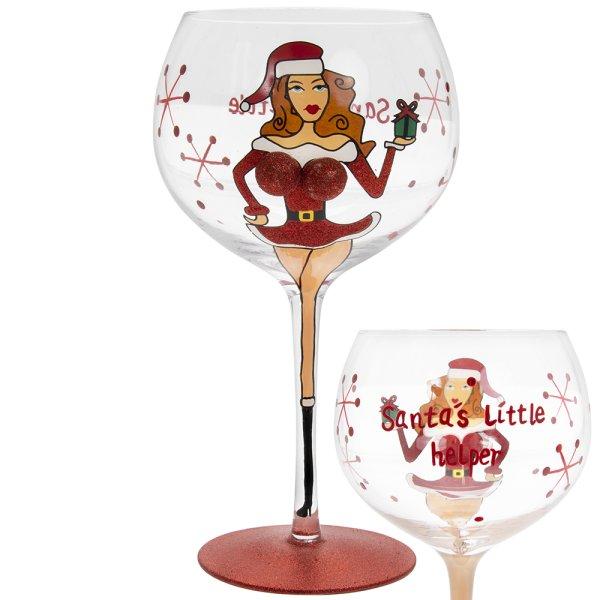 XMAS BOOBY GIN GLASS
