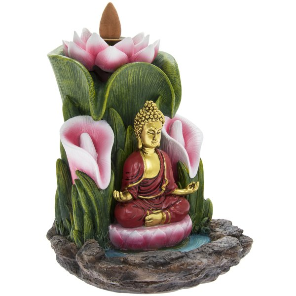 INCENSE BURNER LOTUS BUDDHA