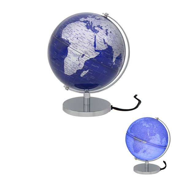 GLOBE SILVER & BLUE LIGHT UP