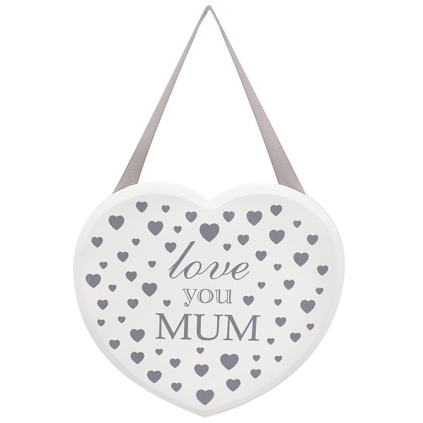 HEART PLAQUE LOVE YOU MUM