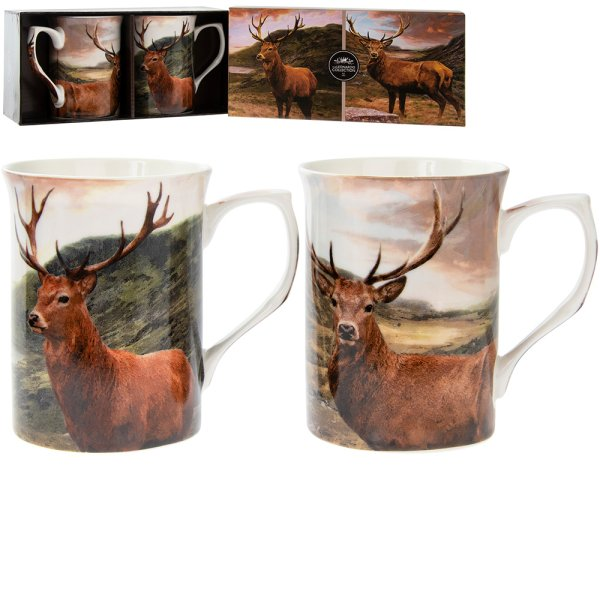 STAG MUGS SET OF 2