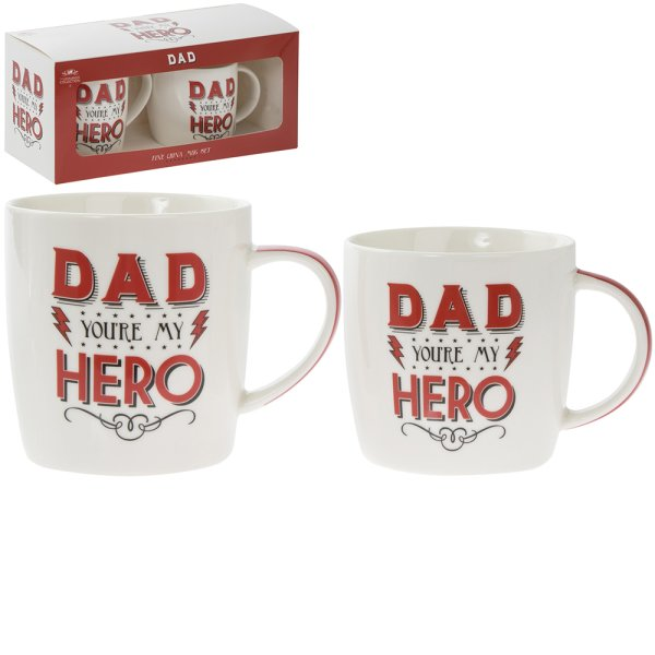 DAD MY HERO MUGS 2 SET