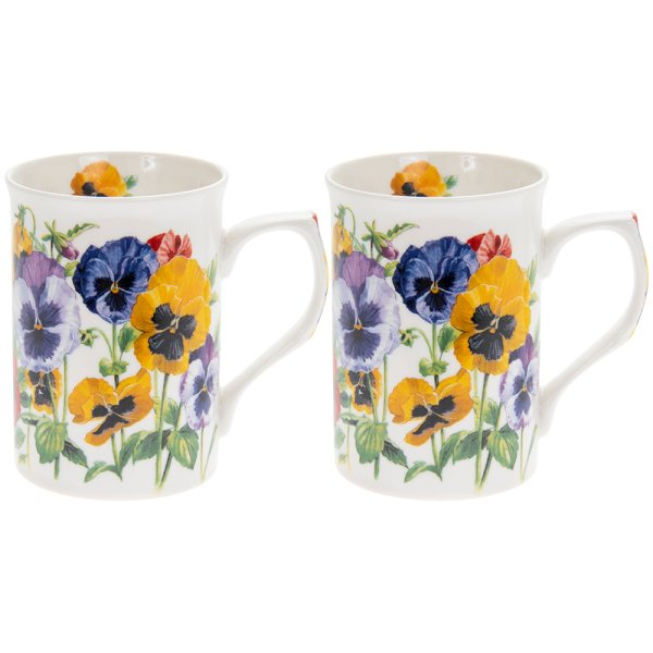 PANSY MUGS SET 2