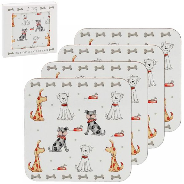 FAITHFUL FRIEND DOG COASTER S4