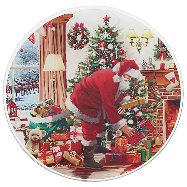 SANTA CANDLE PLATE 20CM