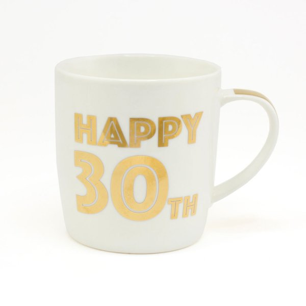 GOLD HAPPY 30TH BIRTHDAY MUG
