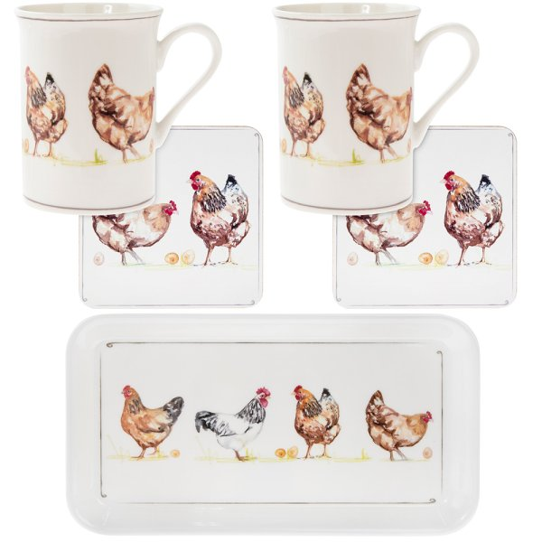 CHICKENS GIFT SET 5PC