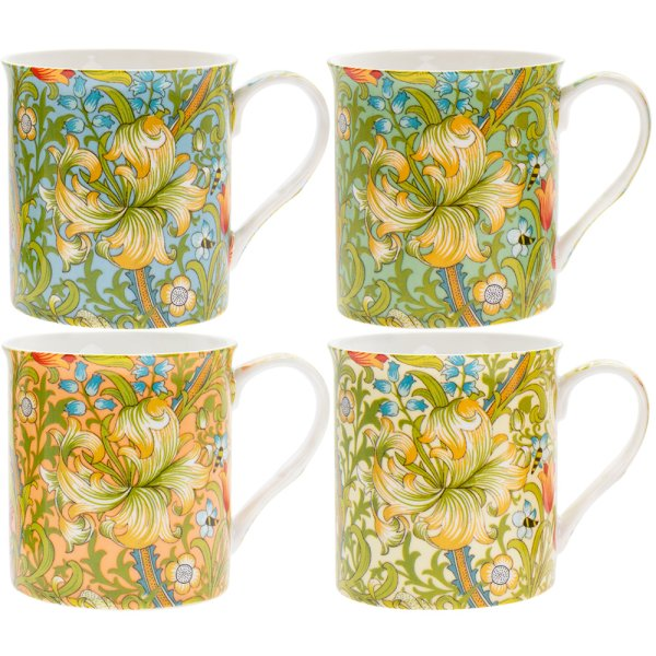 GOLDEN LILY MUGS SET OF 4