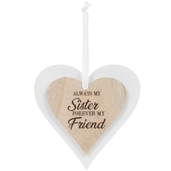 DBL HEART PLAQUE SISTER