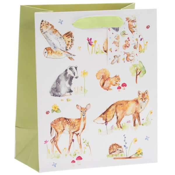 WOODLAND WILDLIFE GIFT BAG M