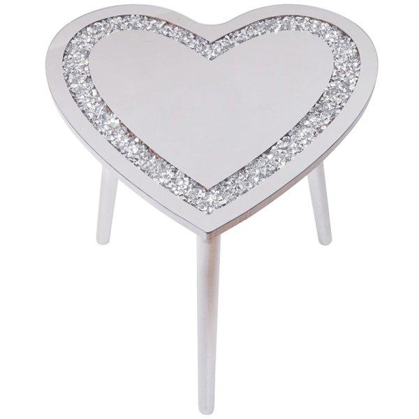 CRYSTAL HEART TABLE 48X48X45