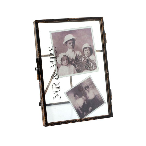 "METAL FRAMES MR & MRS 4""X6"""