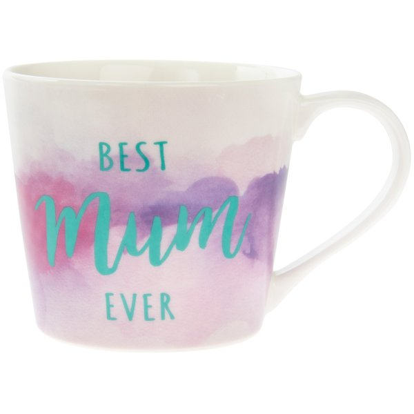 WATERCOLOUR BEST MUM MUG