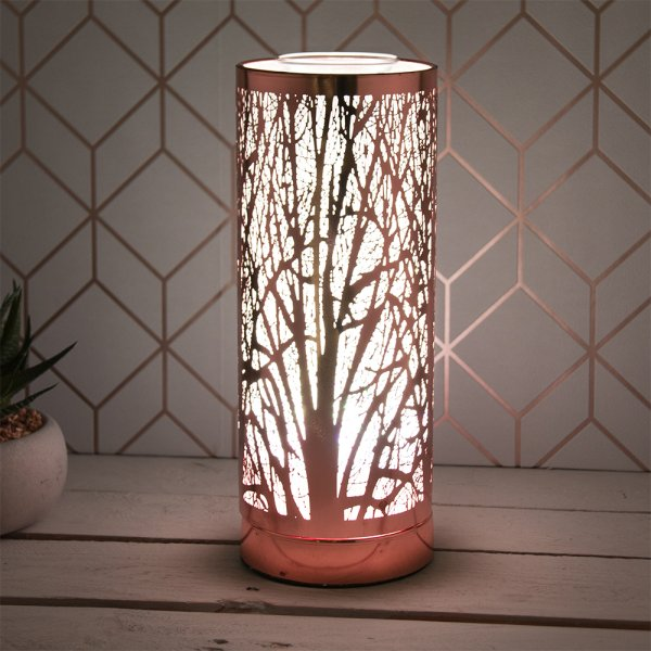 ROSE GOLD AROMA LAMP COLOURLED
