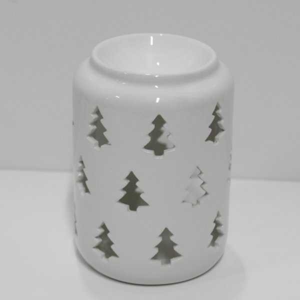XMAS TREE WHT WAX WARMER 14CM