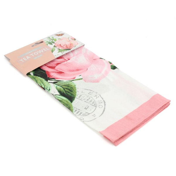 REDOUTE ROSE TEA TOWEL
