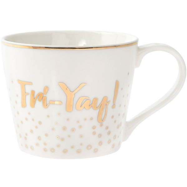 GOLD FRI-YAY MUG