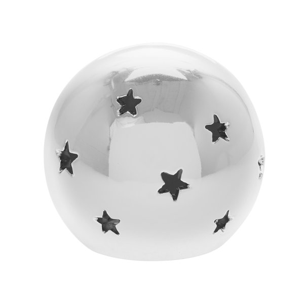 SILVER STAR LED BALL S