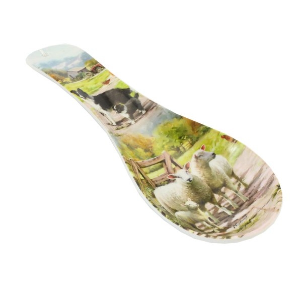 COLLIE & SHEEP SPOON REST