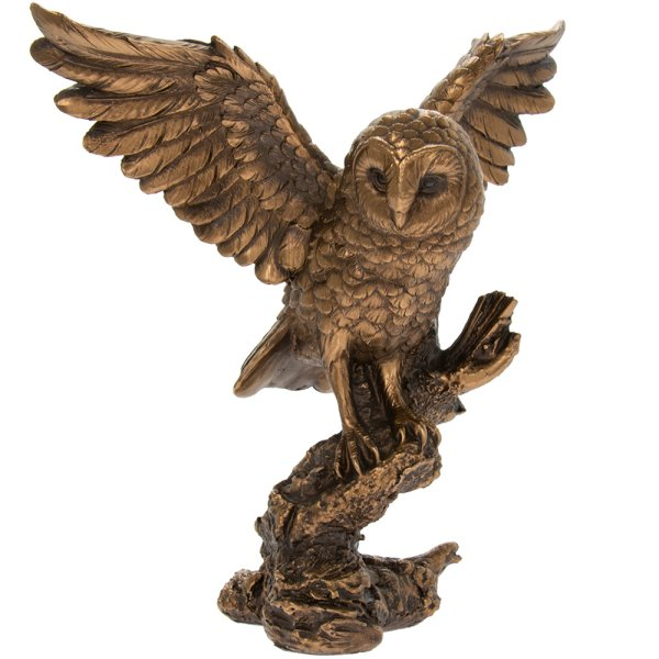 REFLECTIONS BRONZED OWL 20CM