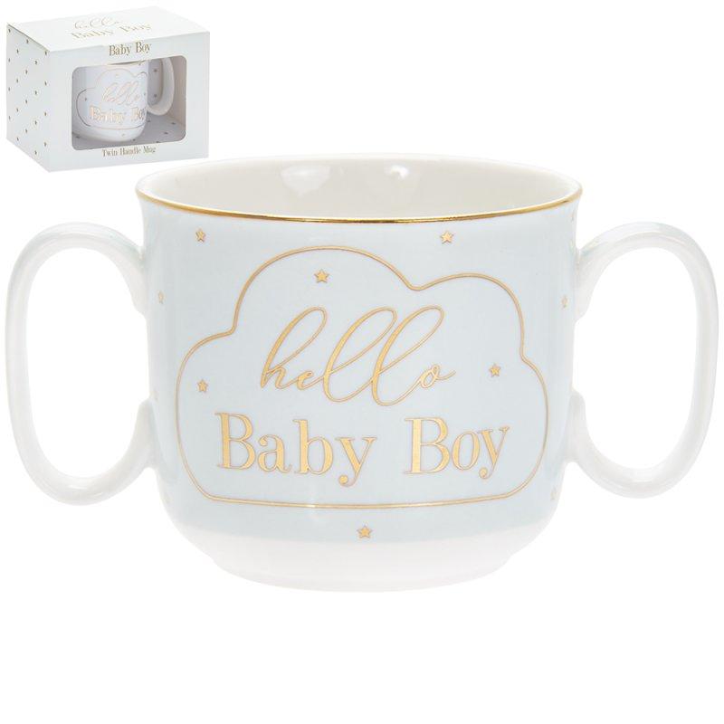 MADDOTS HELLO BABY BOY MUG