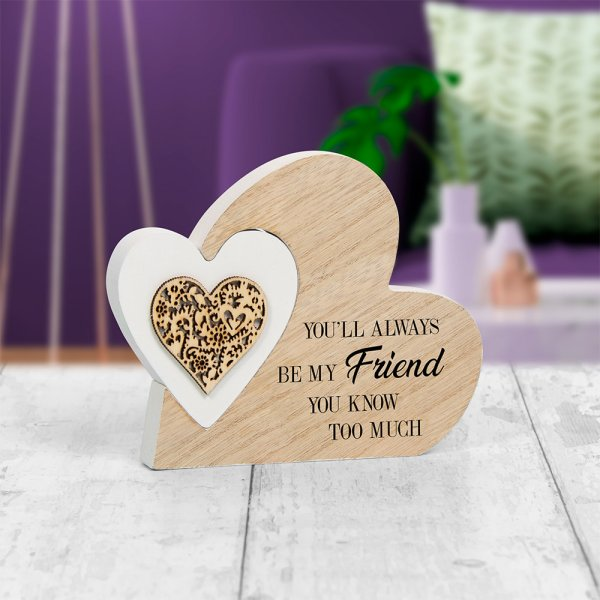 SENTIMENTS DOUBLE HEART FRIEND
