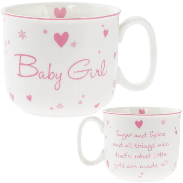 NEW BABY GIRL HANDLED MUG