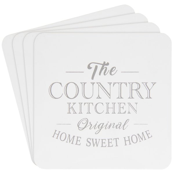 COUNTRY KITCHEN COASTERS 4SET