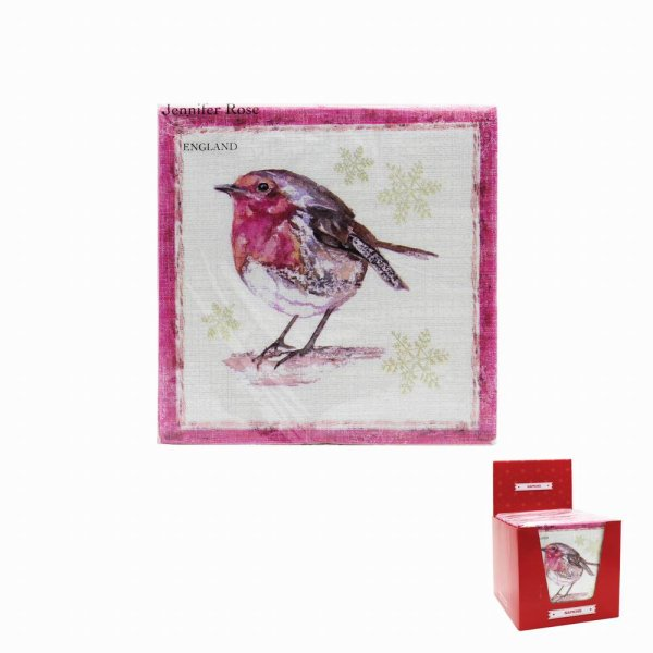 WINTER ROBIN NAPKINS