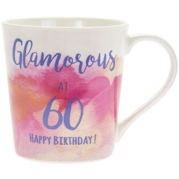 WATERCOLOUR HAPPY 60TH MUG