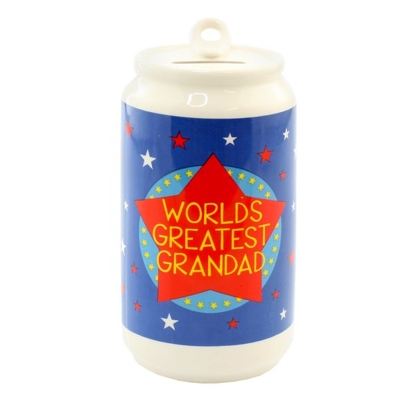 GRANDAD BEER CAN MONEY BOX