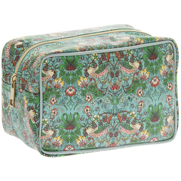 S BERRY THIEF TEAL WASH BAG