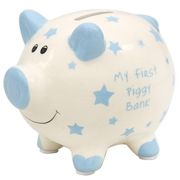 MY FIRST PIGGY BANK BLUE SMALL