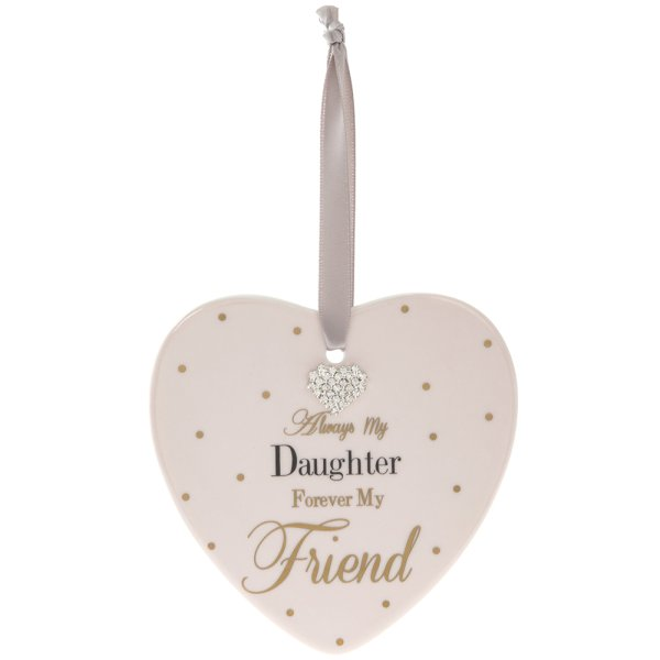 MAD DOTS DAUGHTER HEART PLAQUE