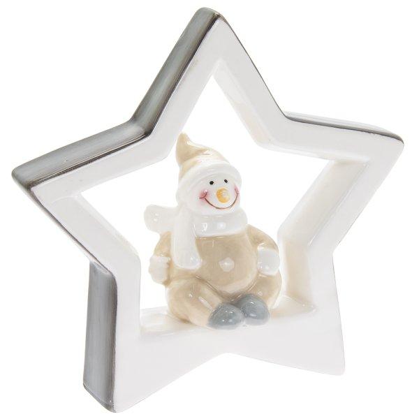 SNOWMAN WITH STAR L