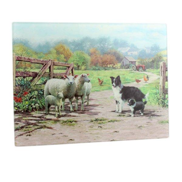 COLLIE & SHEEP CUTTING BOARD