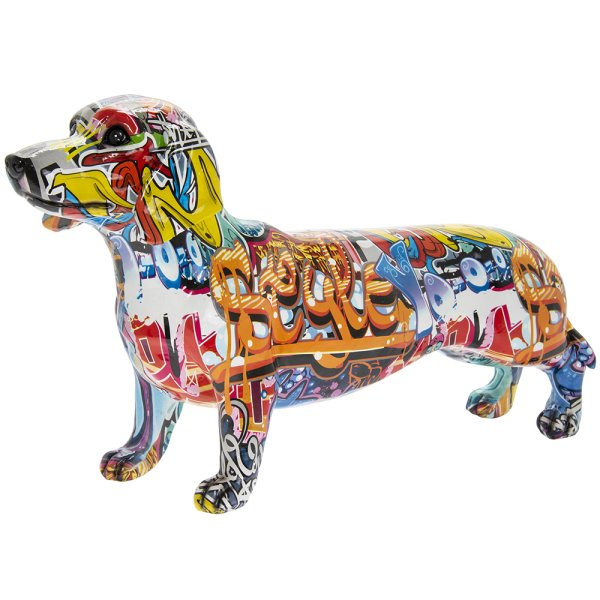 GRAFFITI ART DACHSHUND L