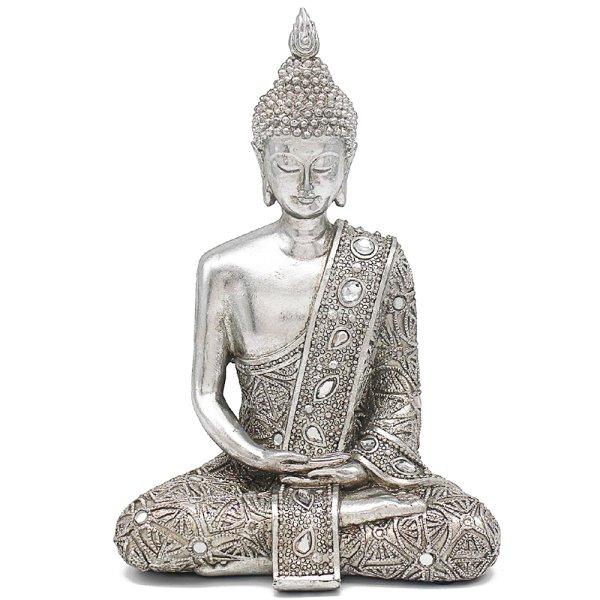 """SILVER ART THAI BUDDHA 9"""""""