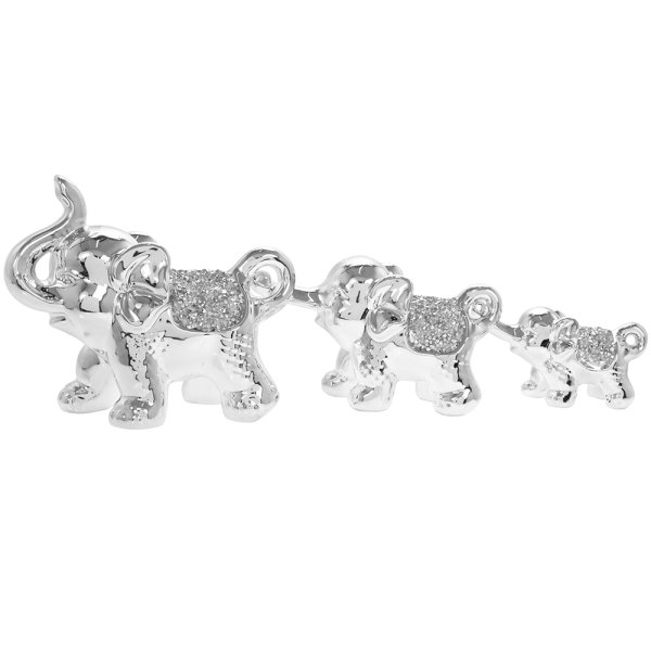SILVER SPARKLE ELEPHANTS S3