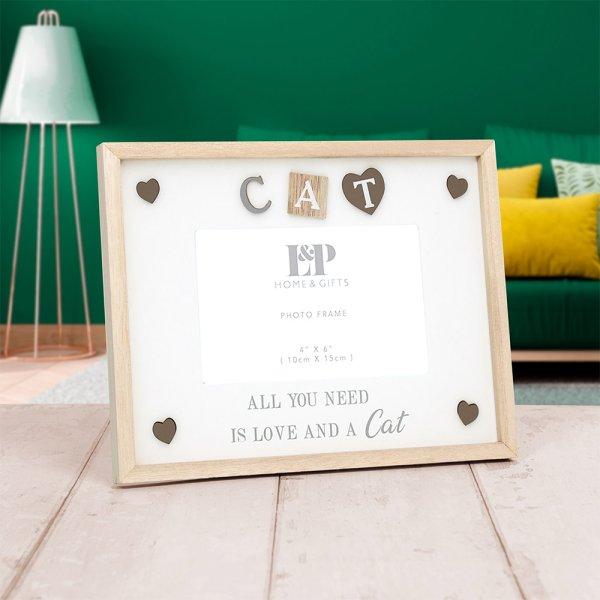"SENTIMENTS FRAME CAT 4X6"""