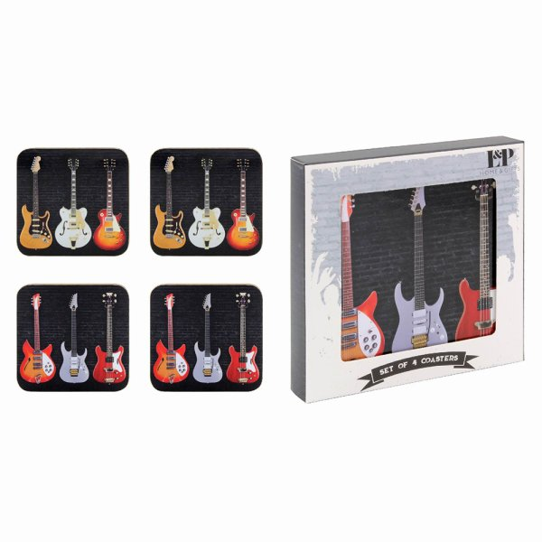 GUITAR COASTERS SET OF 4