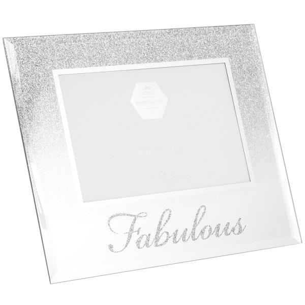 SIL GLITTER FABULOUS FRAME 4X6