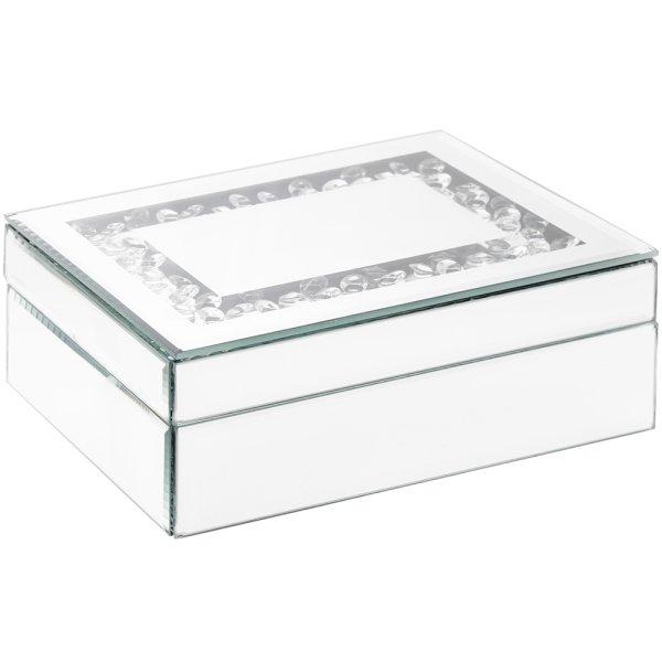 MIRROR CRYSTAL JEWELLERY BOX