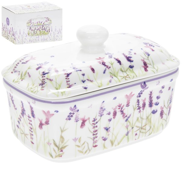 LAVENDER BUTTER DISH
