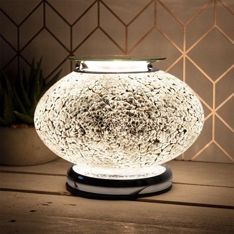 DESIRE AROMA LAMP SILV MOSAIC