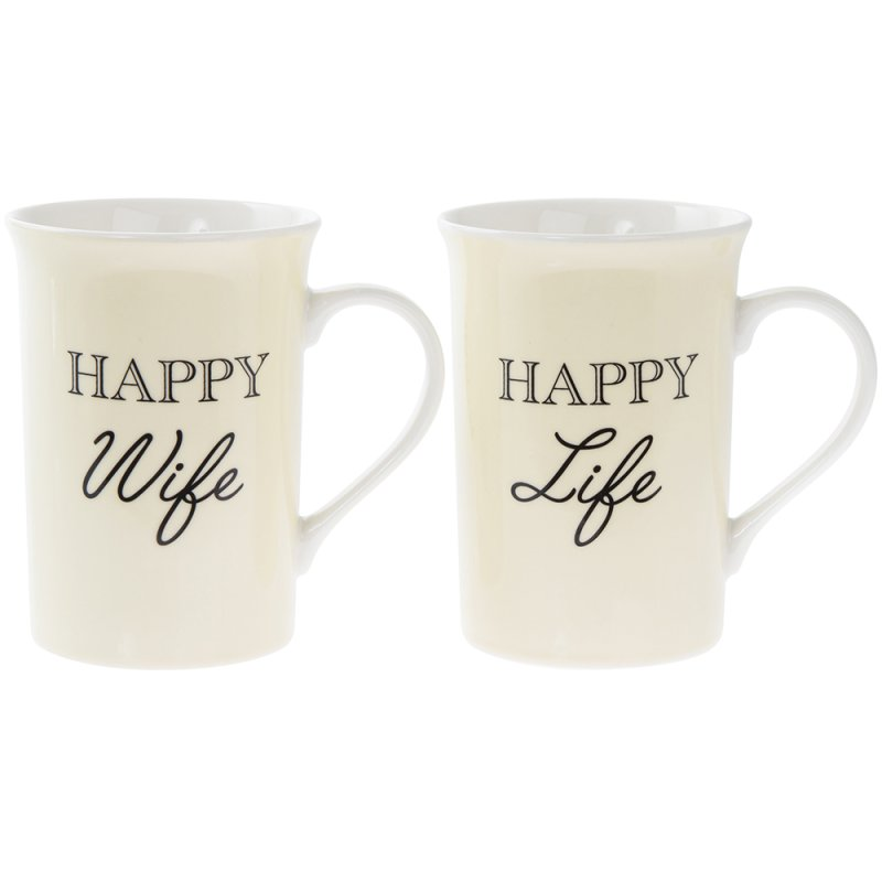 HAPPY WIFE HAPPY LIFE MUGS 2S