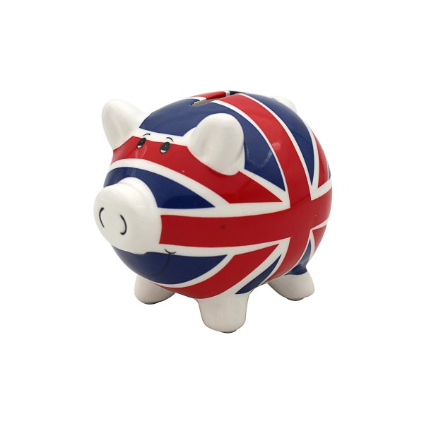 UNION JACK PIGGY MONEY BOX LGE
